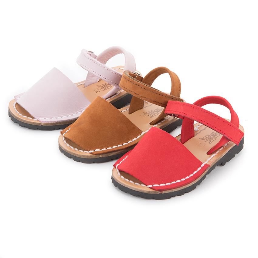0a0288ec9 Sandales Avarcas Nubuck avec Velcro pour Enfant