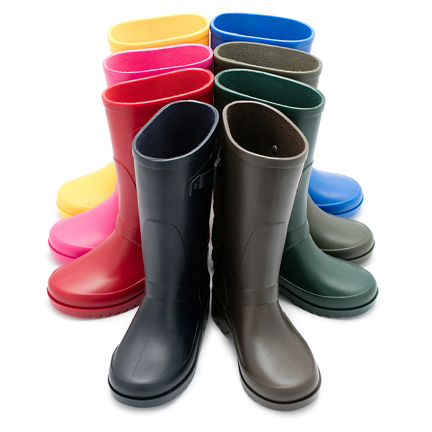 3b7ee9ef21e Bottes de pluie pour Femme et Enfants à ornement boucle