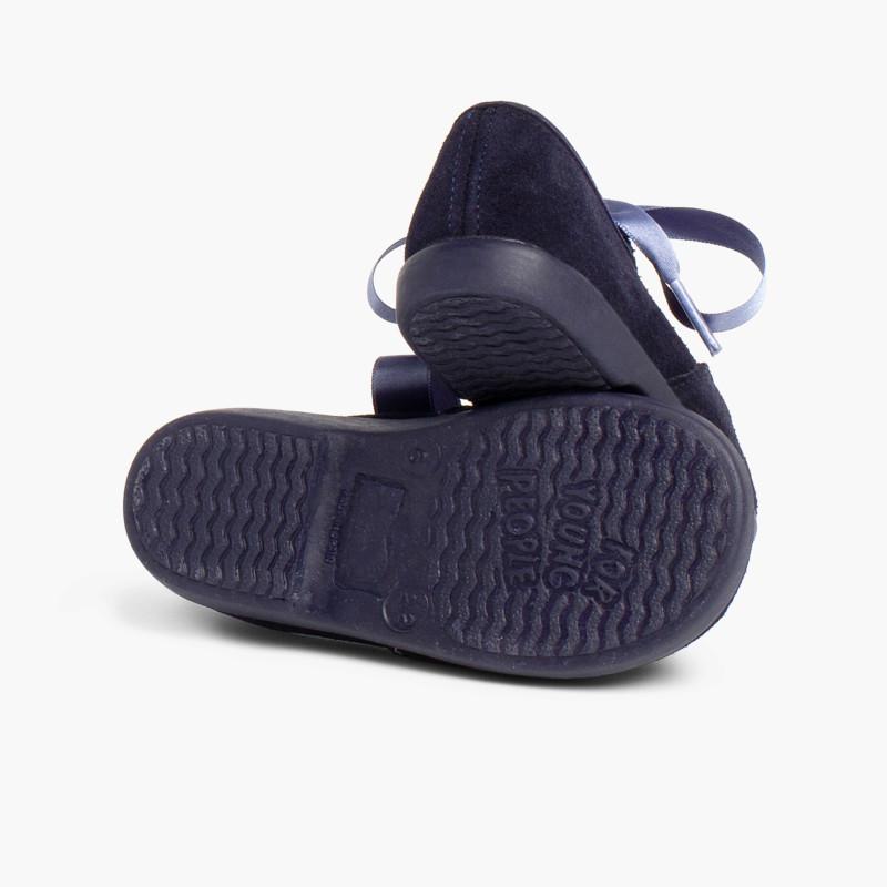 Chaussures anglaises enfants en suède