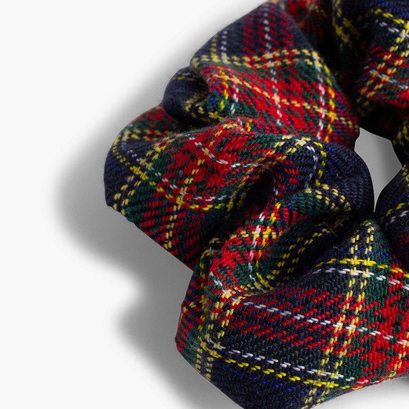 Chouchou fille imprimé écossais