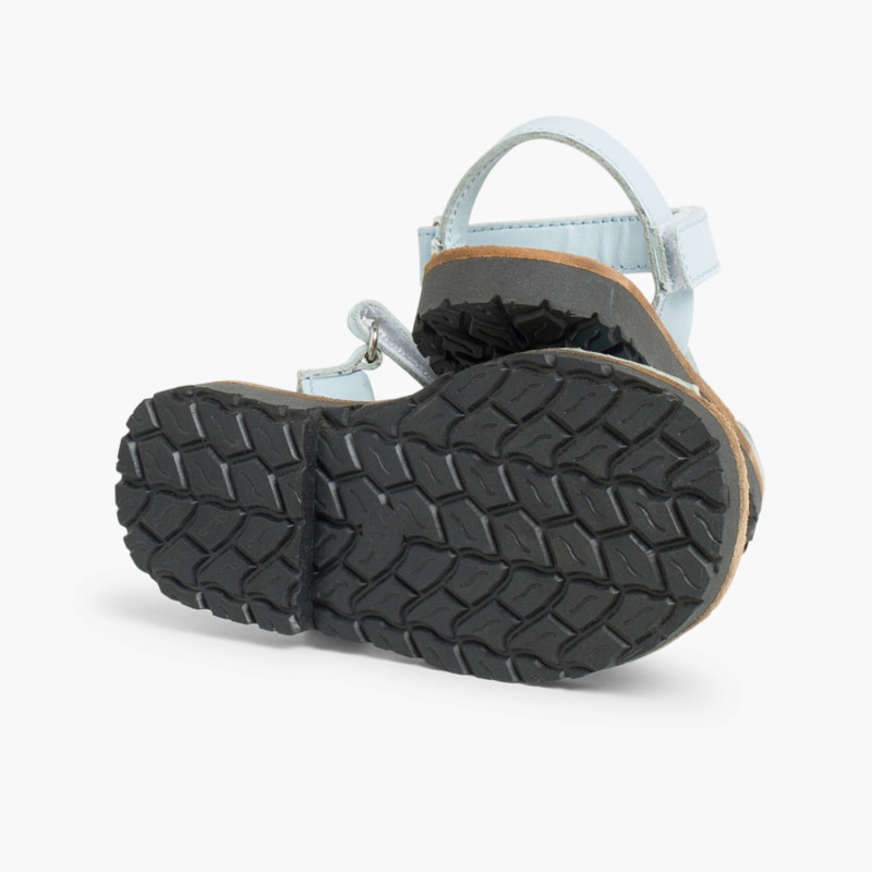 Sandales Avarcas cuir nappa et Velcro pour Enfant