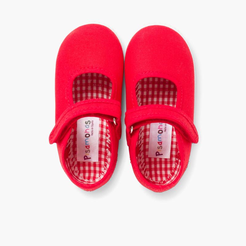 Chaussures Babies Fille à scratch style basket