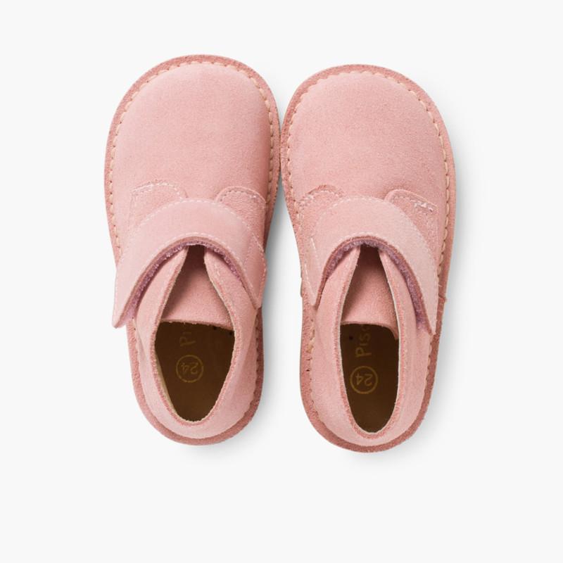 Suède Desert Boots Bottines Chukka à Velcro pour Enfants