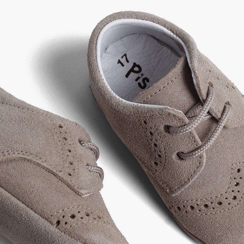 Bottines Bébé en cuir style blucher
