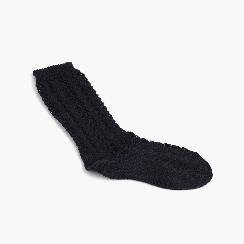 Chaussettes Montantes Perlé Ajourées