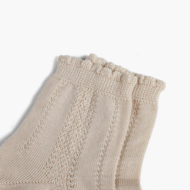 Chaussettes courtes ciselées