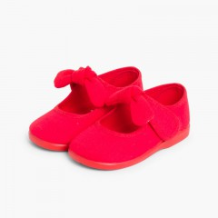 Babies en Toile Avec Velcro Type Angelito Rouge