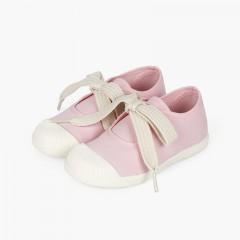 Chaussures Babies type baskets bout en caoutchouc Rose