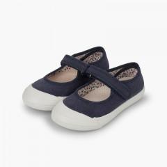 Chaussures Babies à scratch Bout Caoutchouc Renforcé Bleu marine
