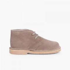 Desert Boots Bottines Chukka à Lacets Enfants et Adultes Gris 180280ab1fed