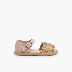 Sandales à Franges Style Espadrille Multicolor