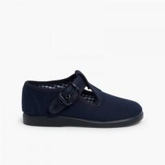 Sandales Salomés en toile  Bleu marine