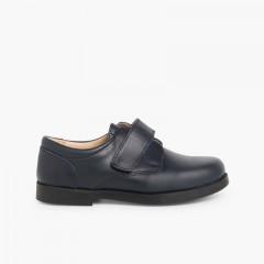 Chaussures d'école avec Velcros pour Garçon  Bleu marine