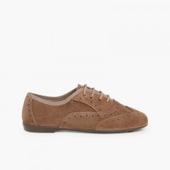 Chaussures Blucher pour Filles Taupe