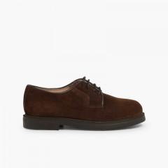 Chaussures Blucher à lacets Marron