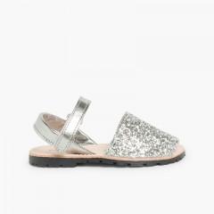 Sandale Avarca Glitter Velcro Argent
