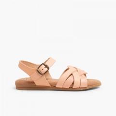 Sandales avec Semelle en Gel Rose Pâle
