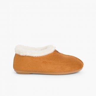 Chaussons Pantoufles Façon Peau de Mouton