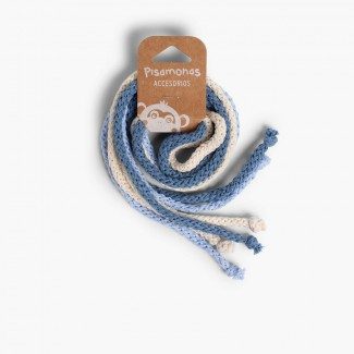 Attaches en Coton pour les Cheveux Celeste, Crudo y Azul Francia