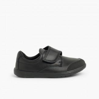 Chaussure d'écolier avec embout renforcé  Noir