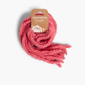 Attaches pour les cheveux des filles en laine unicolore  Rose de France