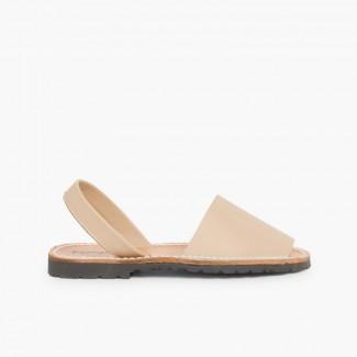 Sandales Avarcas en cuir nappa Sable