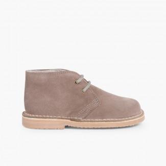 Desert Boots Bottines Chukka à Lacets Enfants et Adultes Gris