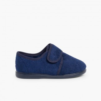 Chaussons Velcro Bleu marine