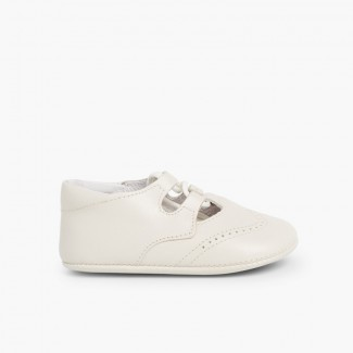 Chaussures Anglaises en Cuir pour bébé Beige