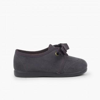Chaussures Blucher bébé enfant serratex velcro Gris