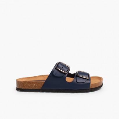 Sandales Bio à Boucle pour Garçon Bleu marine