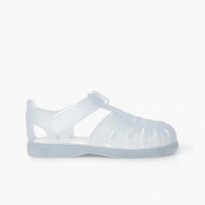 Sandales Plage basiques à velcro tobby Blanc