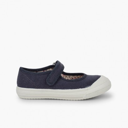 Chaussures Babies Velcro Bout Caoutchouc Renforcé Bleu marine