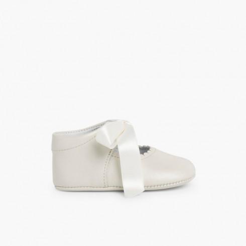 Chaussures à Ruban pour cérémonies Beige