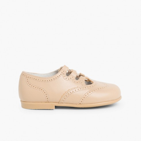Chaussures Anglaises en Cuir Camel