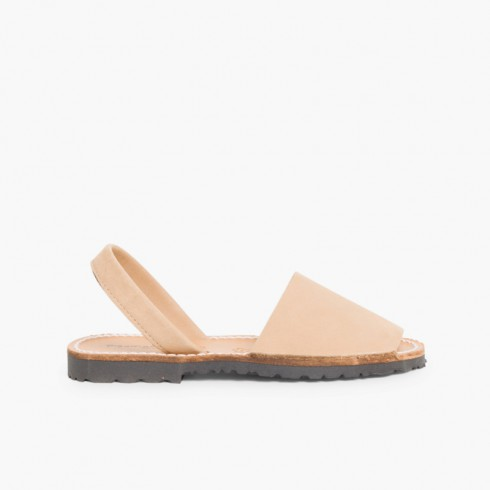 Sandales Avarcas Nubuck Beige