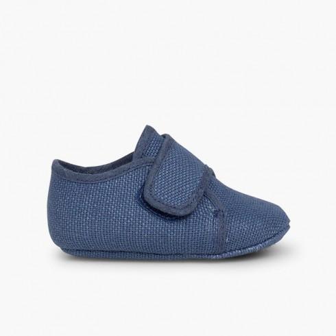 Badana Blucher Bébé Velcro  Bleu