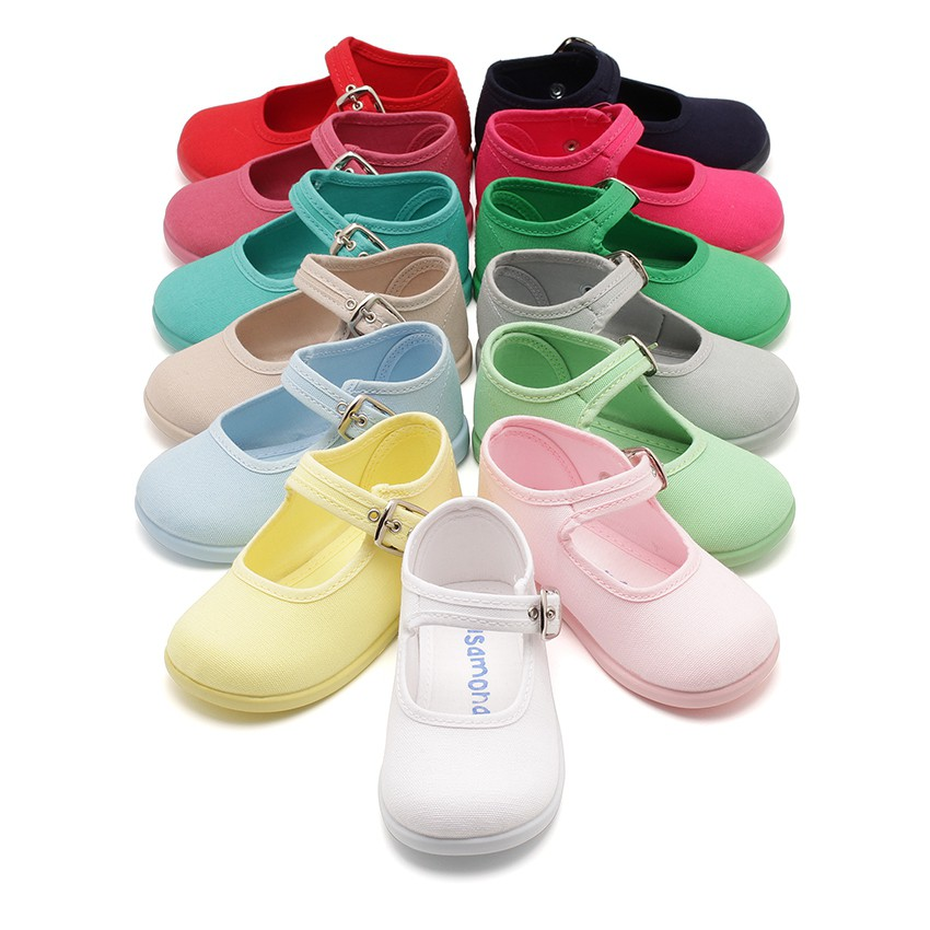 Chaussures en Toile avec Fermeture à boucle