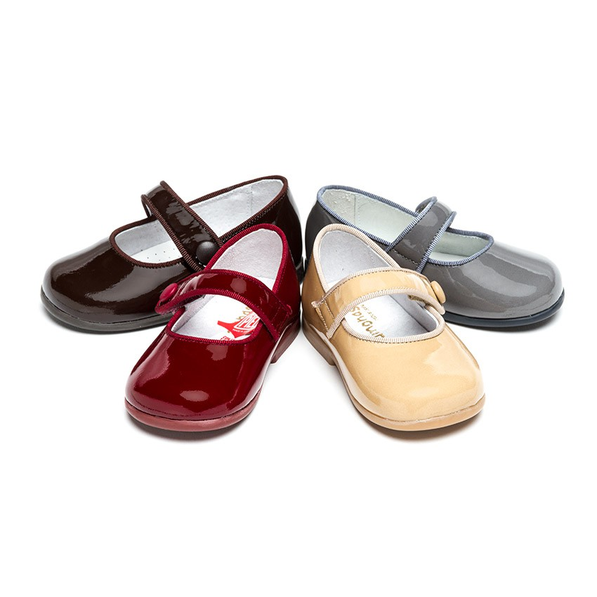 Chaussures à boucle Fille Cuir Verni à scratch