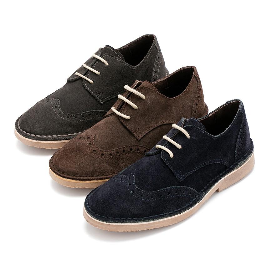 Chaussures Blucher en suède