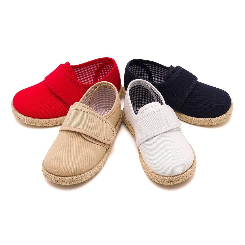 Chaussures Blucher Avec Velcro et Semelle D'espadrille