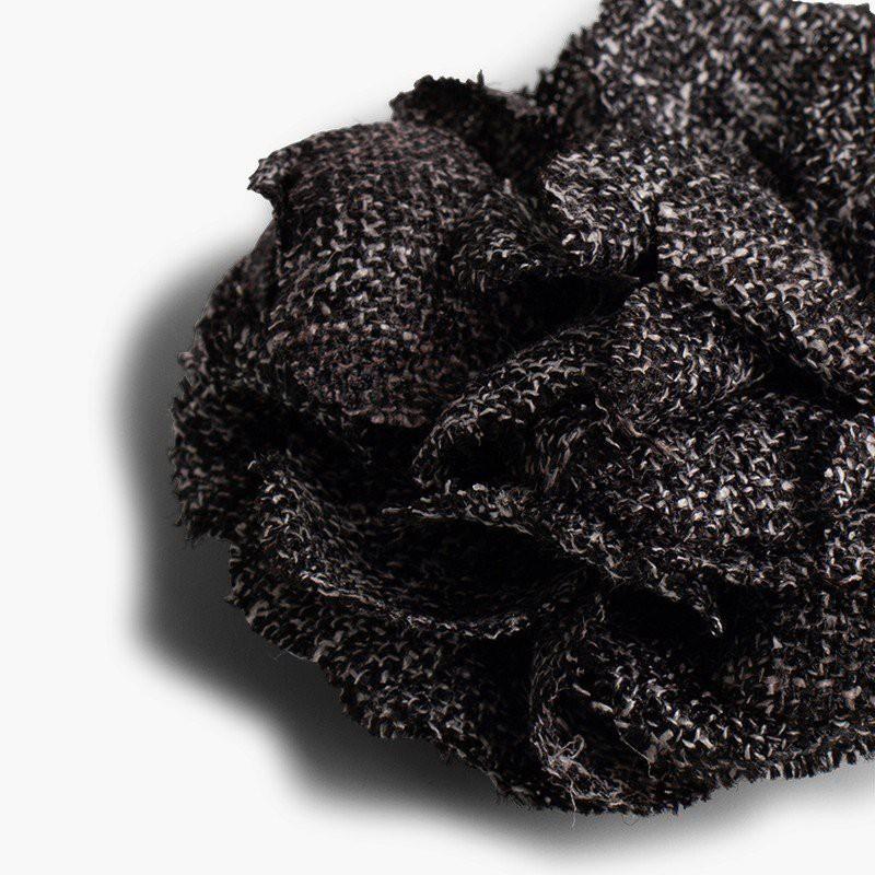 Barrette pour cheveux avec fleur en tissu