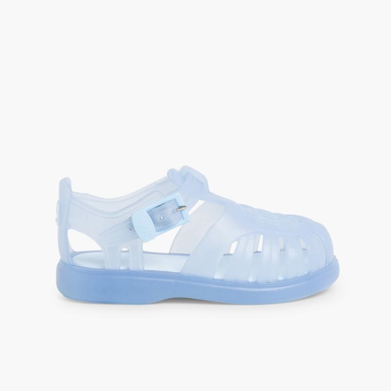 Couleur Sandales Unie Plastique Plage Enfants 76YbyfgvI