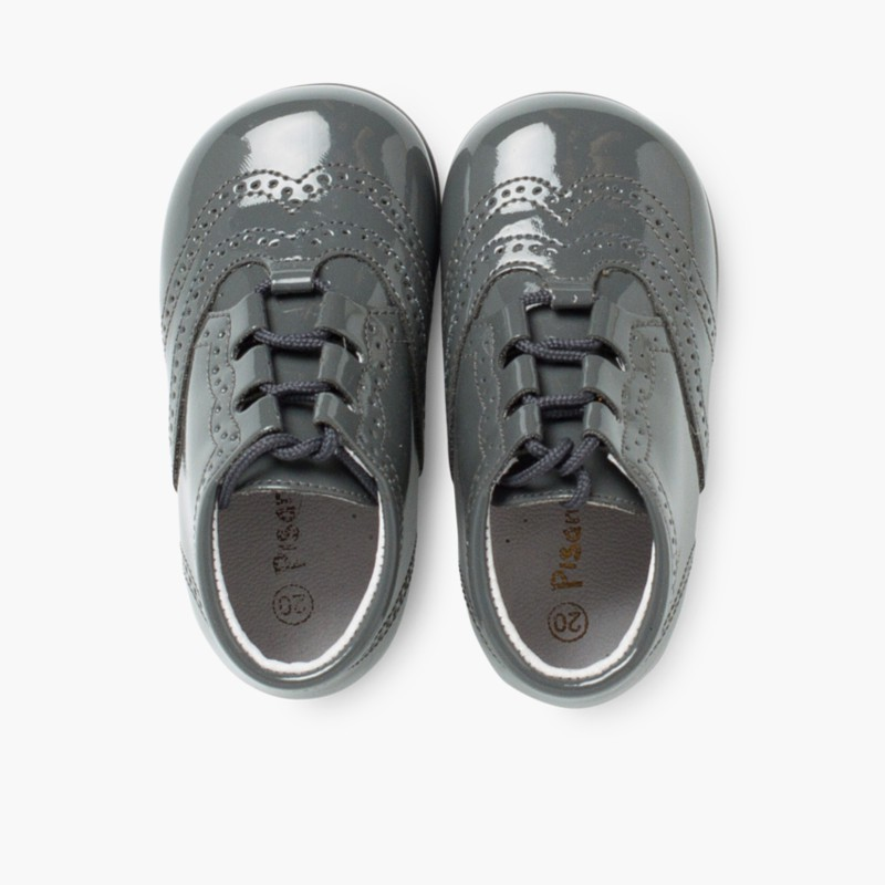 6e8f9af78f7 Chaussures Anglaises effet Verni - Chaussures pour Enfant Pisamonas
