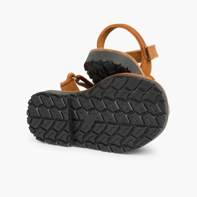d7c69c6110de40 Sandales Avarcas Nubuck - Sandales avec Velcro pour Enfants