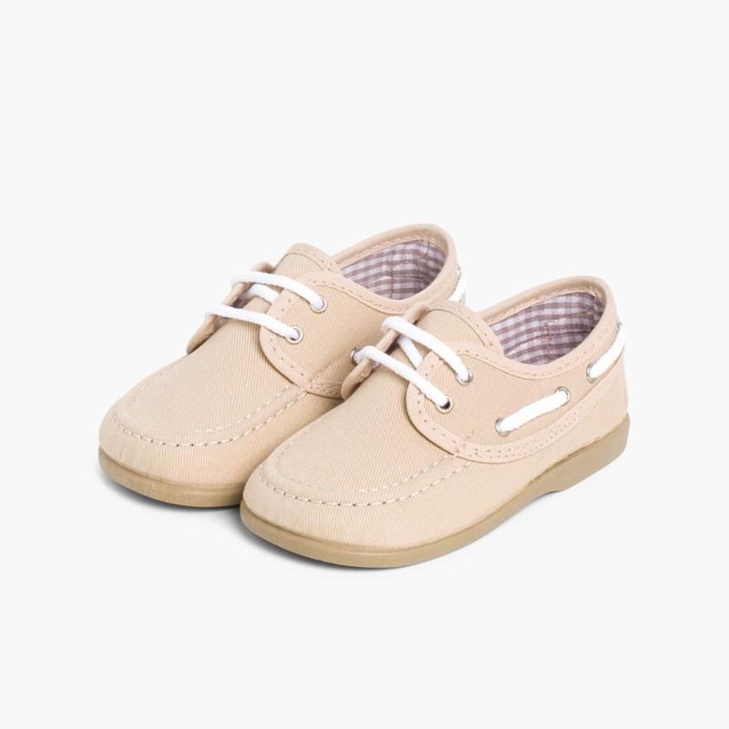 Chaussures Lacets Avec Toile Bateau En Xxxob0 P7UTZqPw