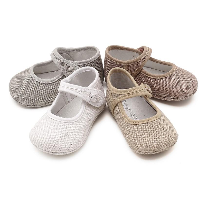 Babies Pour Bébé en Lin Avec Velcro