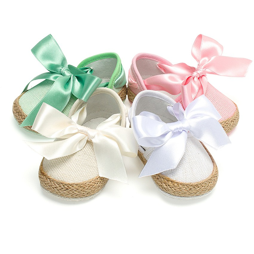 Chaussures Bébé Style Valenciennes en Lin