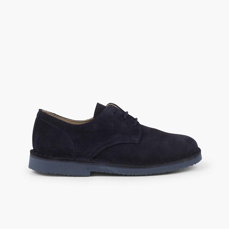 Chaussures Blucher élégantes en suède lisse garçon