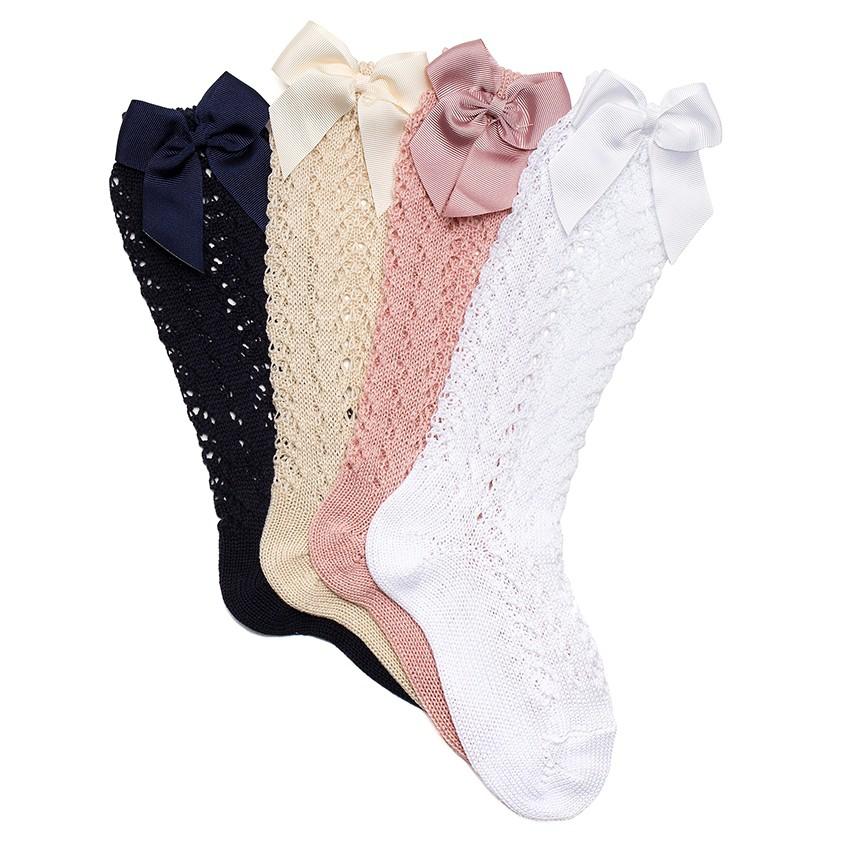 Chaussettes hautes condor ajourées avec un ruban